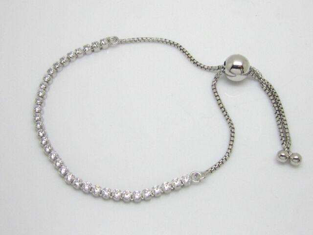 1040e97dc ... PANDORA Sparkling Strand Bracelet Clear CZ 590524cz 23cm eB ...