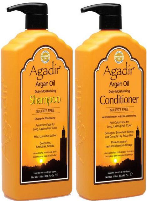 AGADIR ARGAN OIL DAILY MOISTURIZING SHAMPOO 1 LITRE AND CONDITIONER 1 LITRE