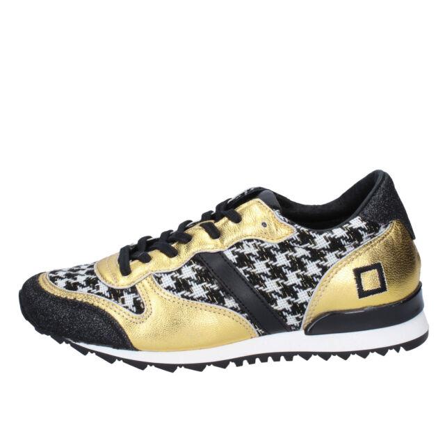 Bajo Costo De Descuento Scarpe donna D.A.T.E. (DATE) sneakers nero tessuto oro glitter BX24 zooode Sportivo 2018 Nueva Línea ZakayS