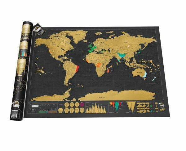Scratch off world map deluxe large giant vintage travel poster scratch off world map deluxe large giant vintage travel poster huge wall decor ebay gumiabroncs Gallery