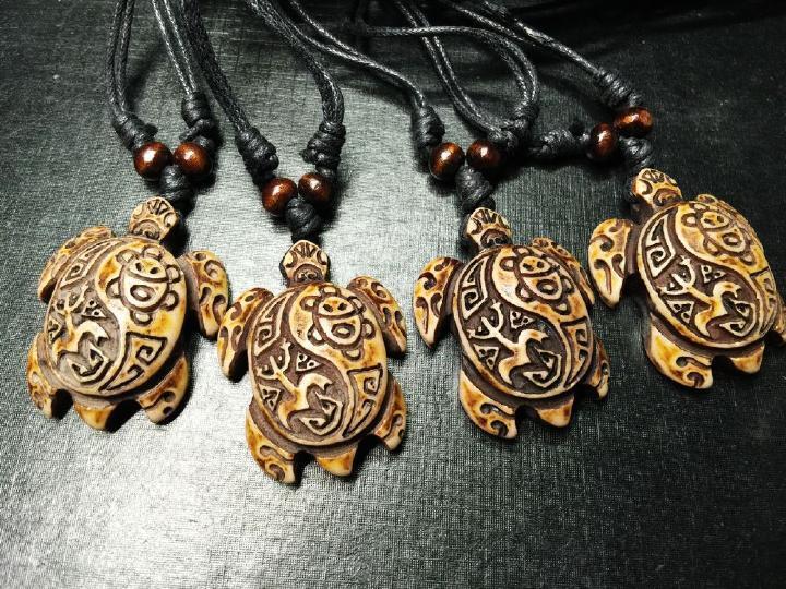 4 Pcs Turtle Necklace Coqui Tribal Frog And Taino Sun Symbols