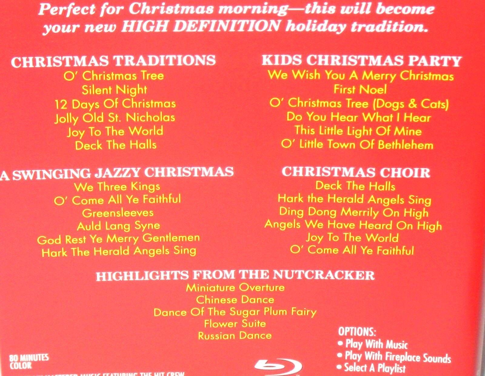 drew u0027s famous yule log christmas fireplace blu ray disc ebay