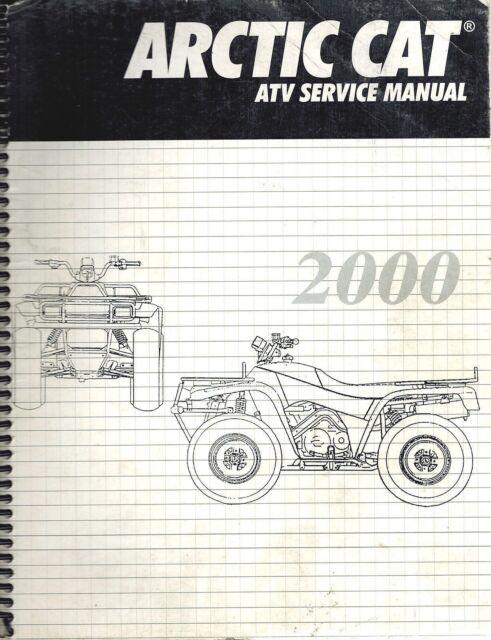2000 arctic cat 250 300 400 500 atv service repair manual ebay rh ebay com 2000 arctic cat atv owners manual 2000 arctic cat atv service manual