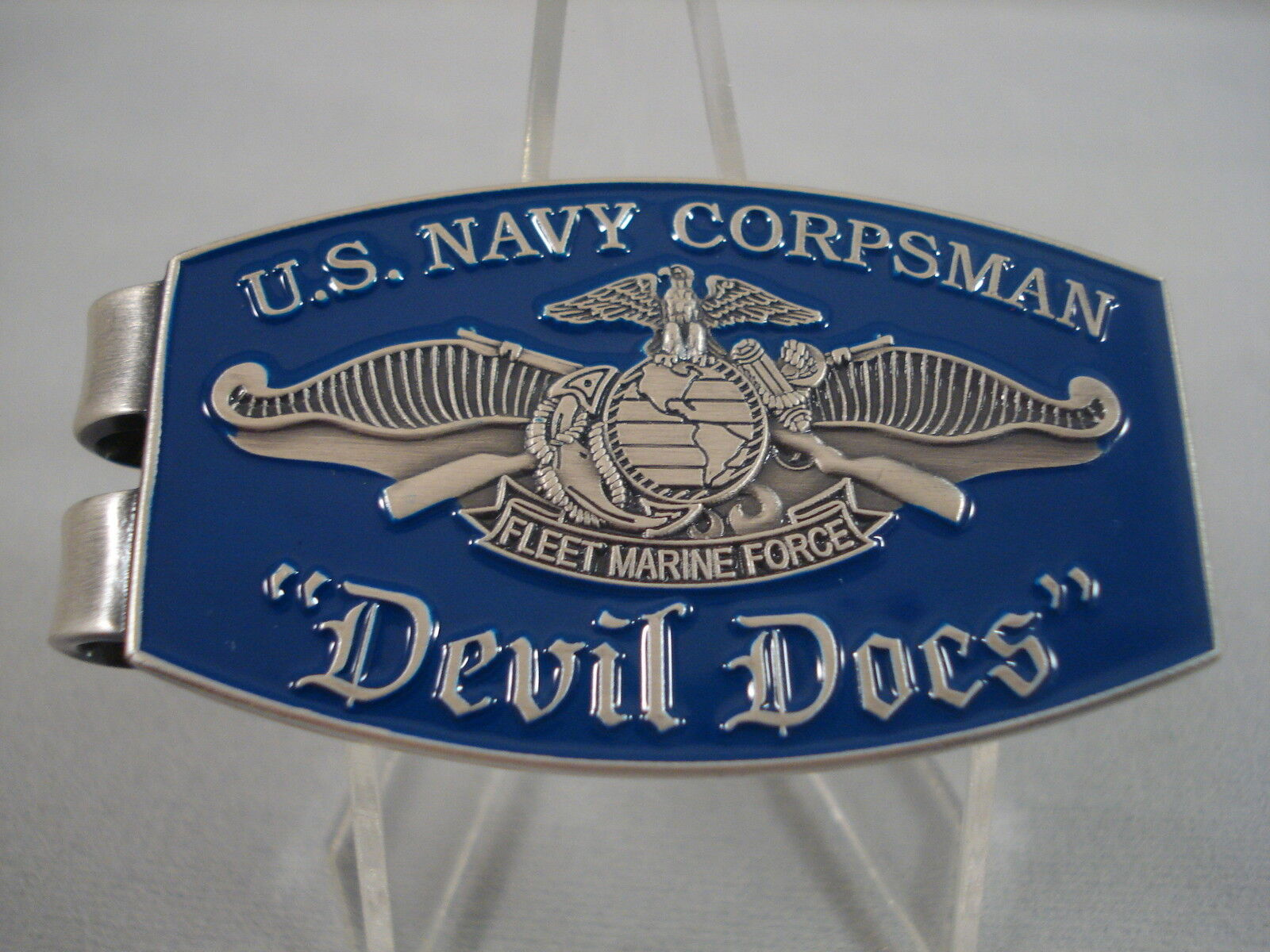 Us navy corpsman devil doc doctor money clip usn challenge coin picture 1 of 2 biocorpaavc Gallery