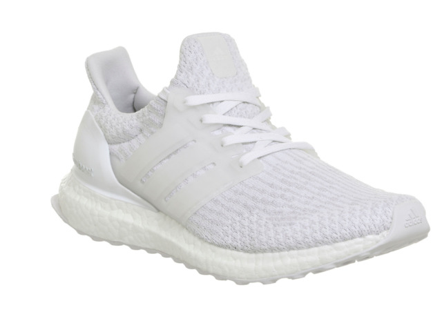 Adidas Ultra Boost Scarpe da ginnastica White Mono UK 8.5 EU 42.7 EM36 24