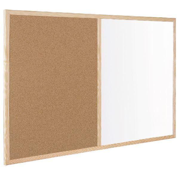 Bi-Office Wood Frame Cork/Drywipe Board 900x600mm MX07001010 [BQ27010]