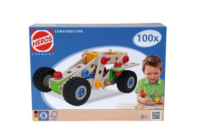 Heros Constructor Quad   Holz Konstruktionsspielzeug   Kinder Holz Baukasten