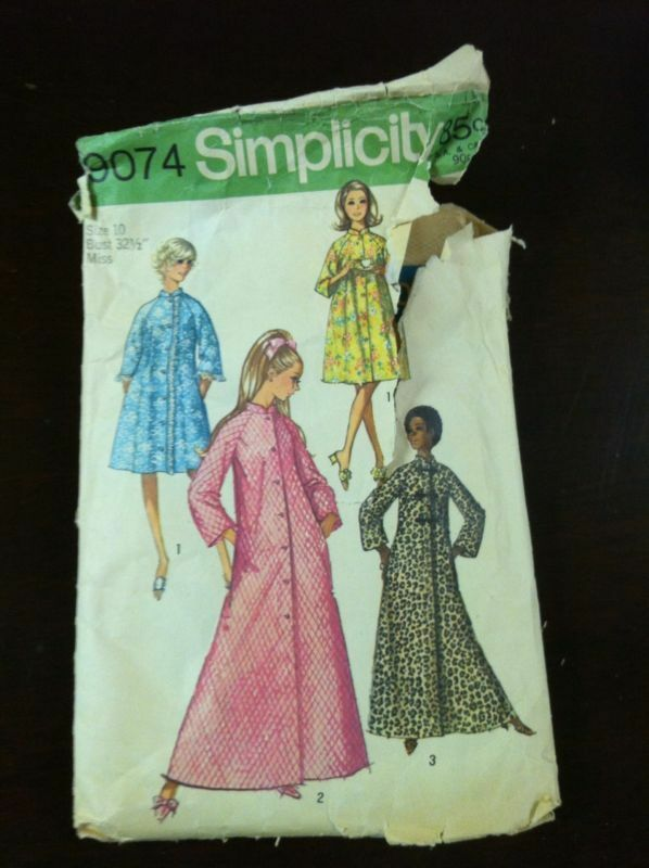 70s Vintage Robe Sewing Pattern simplicity 9074 Bust 34 | eBay