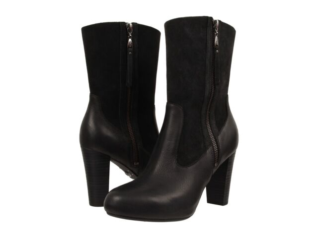 Womens Boots UGG Athena Black Leather/Suede