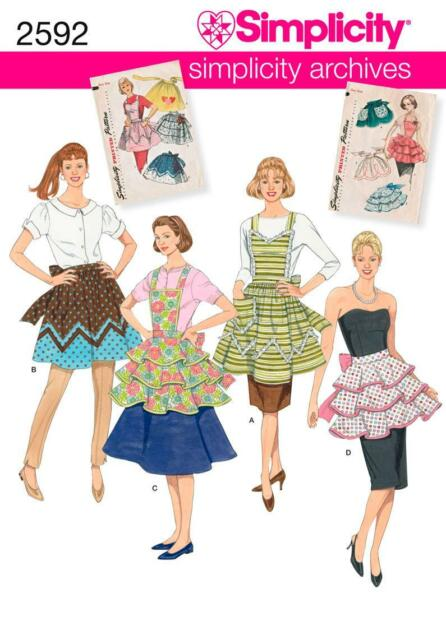 Simplicity SEWING PATTERN 2592 To Make Misses Retro Aprons