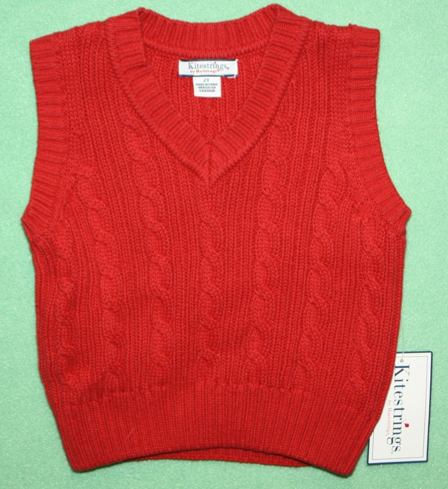 Kitestrings Hartstrings Sweater Vest Cable Knit Red Pullover ...