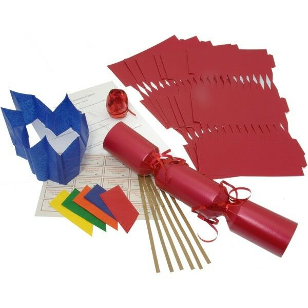 10 x make your own large 14 35cm christmas cracker kits red ebay 10 x make your own large 14 35cm christmas cracker kits solutioingenieria Gallery