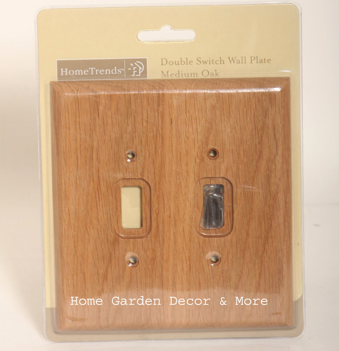 5 Switch Outlet Cover Home Trends Wooden Double Switch Wall Plate Outlet Cover  Medium