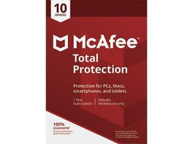 McAfee Total Protection 2018 10 Device / 1 Year