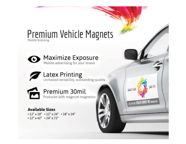 X Custom Car Magnets Magnetic Auto Truck Signs EBay - Custom car magnet advertisingcustom car magnets car door advertising magnets