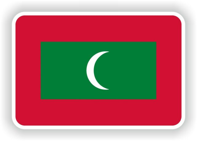 Sticker maldives flag bumper decal car fridge tablet door bike book skateboard