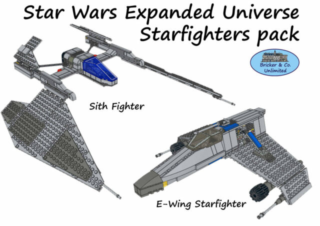 Lego MOC Custom Star Wars Expanded Universe Starfighters Pack ...