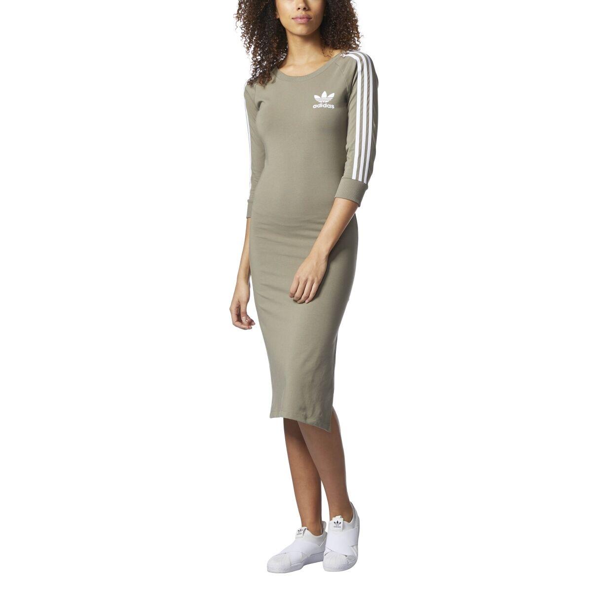 adidas 3 stripe dress. new women\u0027s adidas originals 3-stripes dress [cg1211] size small adidas 3 stripe dress