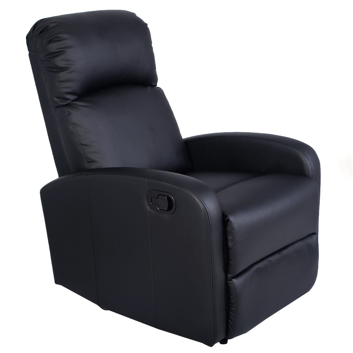 Picture 1 of 10 ...  sc 1 st  eBay & Giantex Manual Recliner Chair Black Lounger Leather Sofa Seat Home ... islam-shia.org