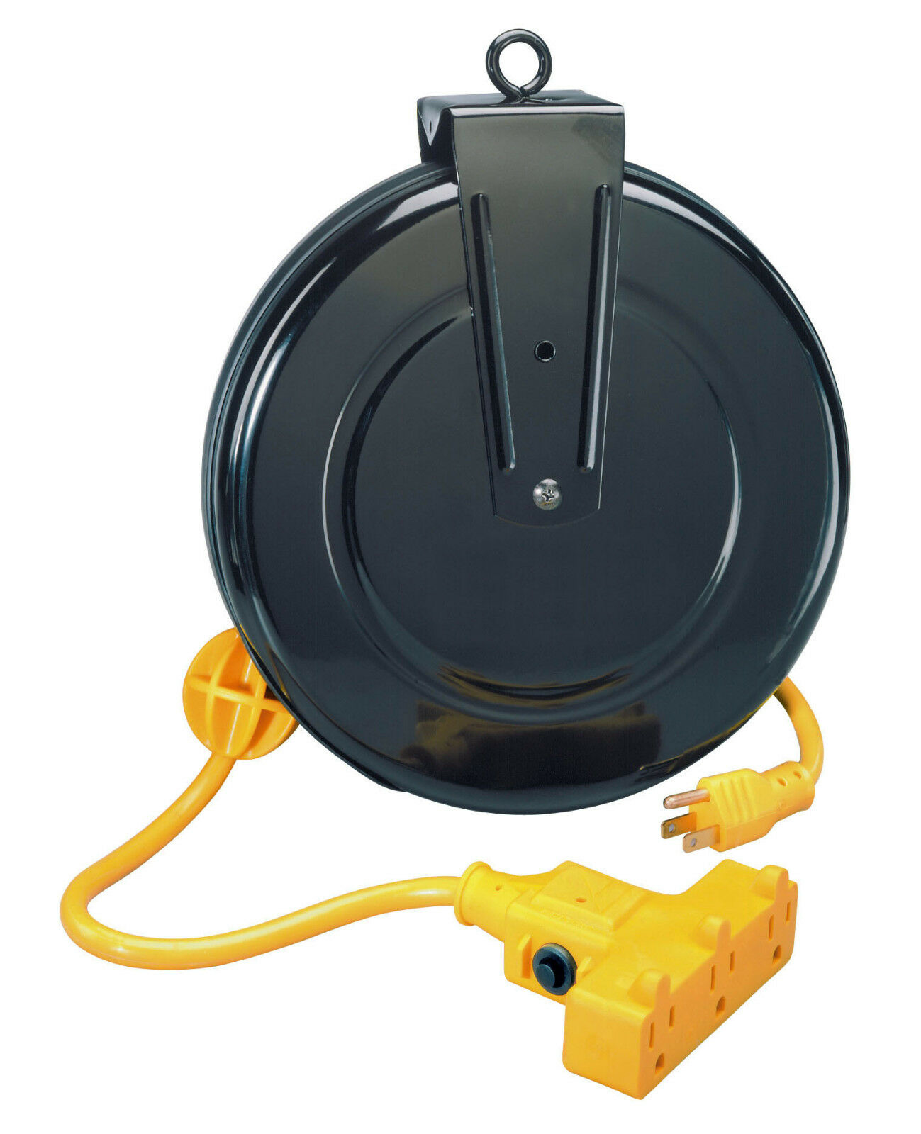 alert stamping 30ft retractable extension cord reel with circuit rh ebay com Retractable Extension Cord Reel Chicago Retractable Electric Extension Cord Reel