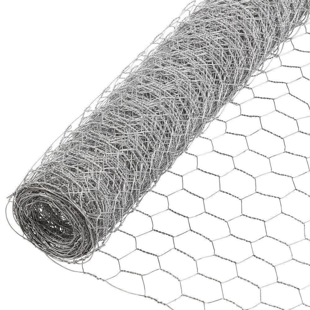Poultry Netting 2x50ft Galvanized Wire Fence Chicken Pen Garden Mesh ...