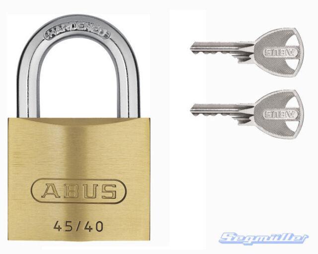 ABUS Messing Vorhängeschloß 45/40 mit Mehrschlüssel/Zusatzschlüssel frei wählb