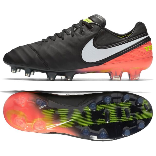 Nike Tiempo Legend 6 VI FG 819177-018 Black/White/Orange/Volt