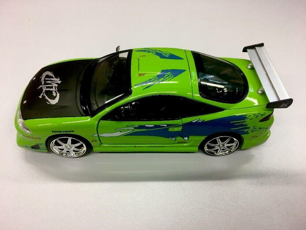 Jada Fast and Furious Brian's MITSUBISHI Eclipse 1 24 Green Diecast ...
