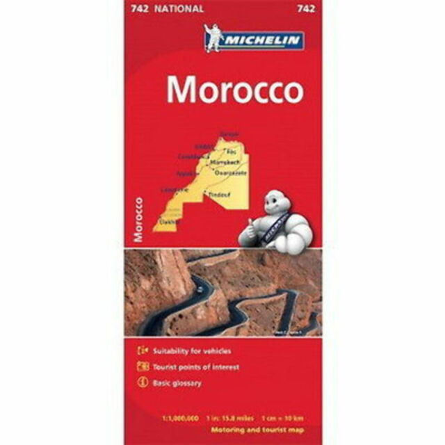 Morocco Michelin National Map 742 Motoring and Tourist