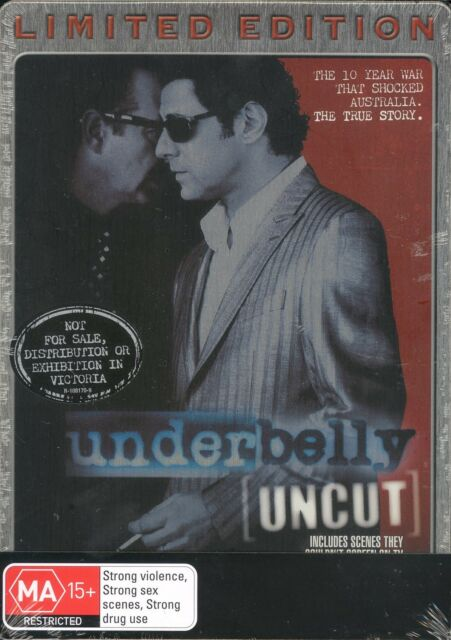 Underbelly UNCUT Limited Edition steelbook NEW Region 4 Vince Colosimo
