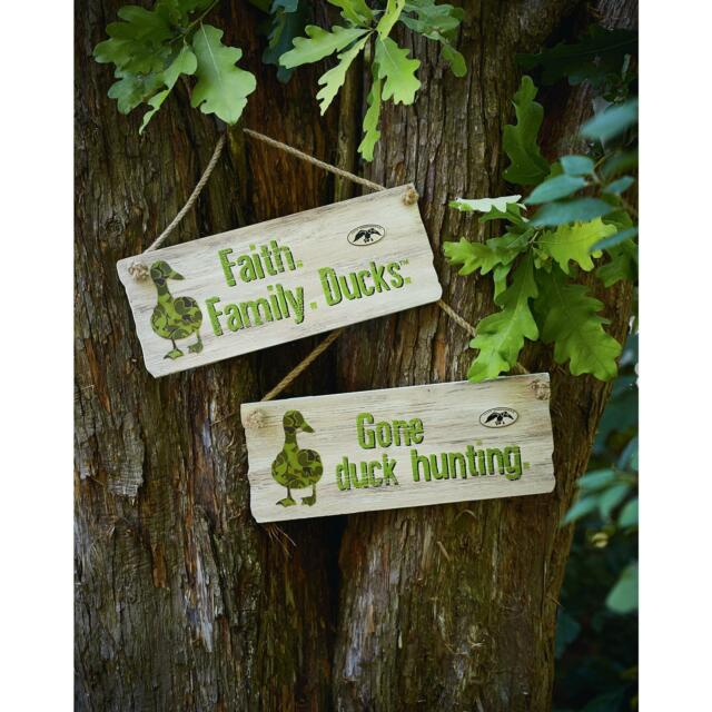 Gone Duck Hunting Sign Plaque Primitive Rustic Country