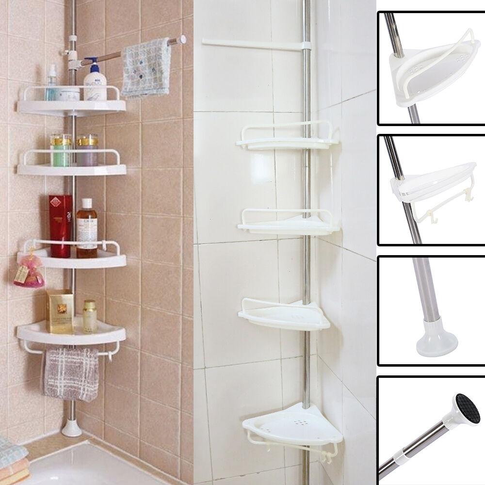 bathroom bathtub shower caddy holder corner rack shelf organizer