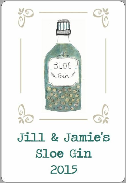 8 homemade sloe gin labels vodka damson wine stickers cordial personalised gifts
