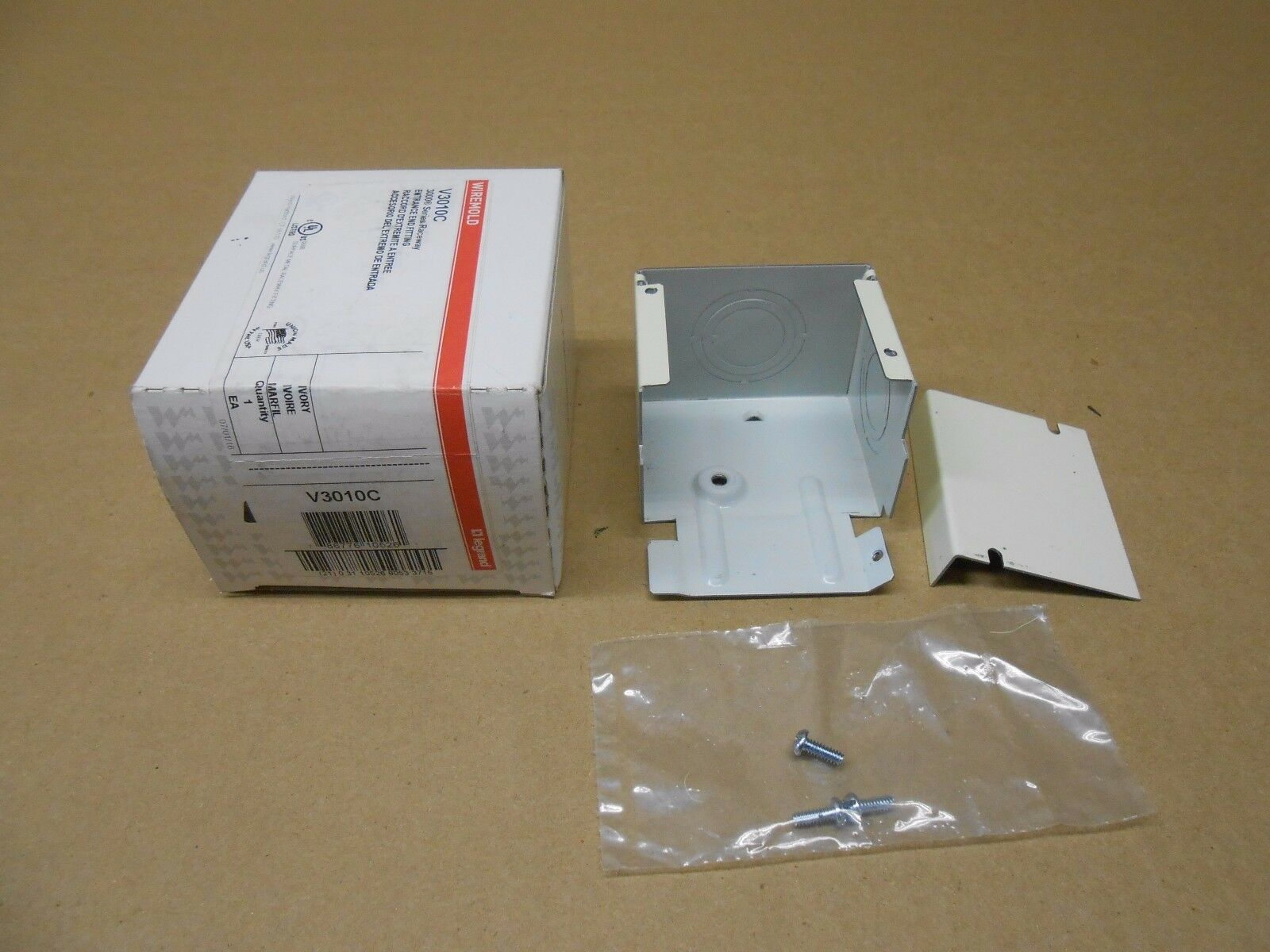 1 Wiremold V3010C Entrance End Fitting 3000 Series Ivory | eBay