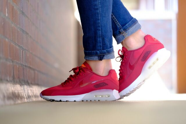 Nike Air Max 90 Ultra Womens Sz 8 845110-600 Noble Red Summit White Shoes