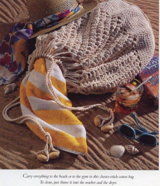 Cluster Tote Beach Gym Vanna Crochet Pattern Leaflet 30 Days To