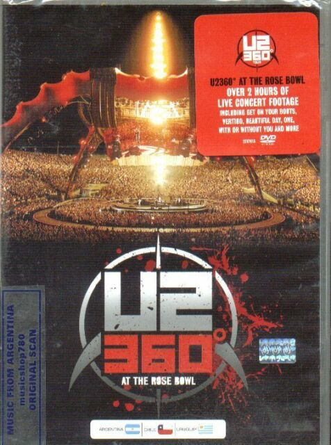 DVD U2 360 TOUR AT THE ROSE BOWL SEALED NEW LIVE
