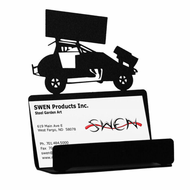 Swen products sprint car race auto racing black metal business card swen products sprint car race auto racing black metal business card holder colourmoves Images
