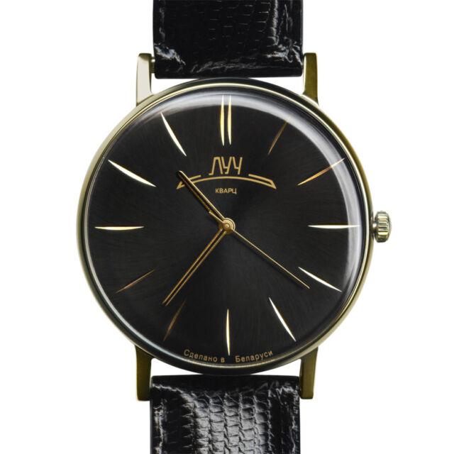 Luch Retro Wristwatches Zirconium Nitride. Quartz Russian ...