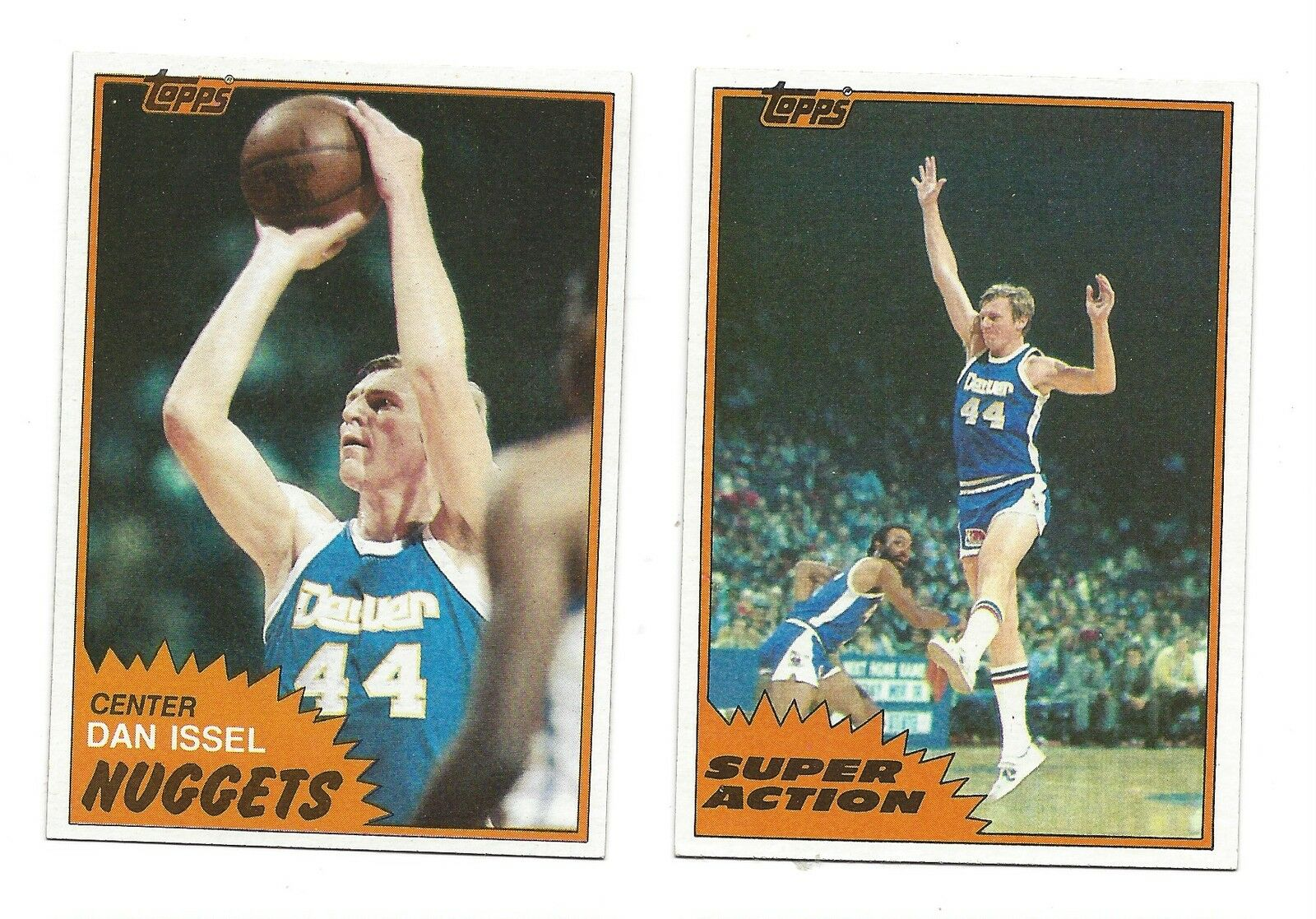 1981 Topps Dan Issel 11 Basketball Card
