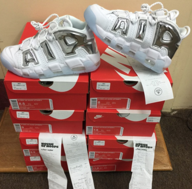 Nike Air More Uptempo WMNS Whit- Chrome Blue Tint 917593-100 AUTHENTIC