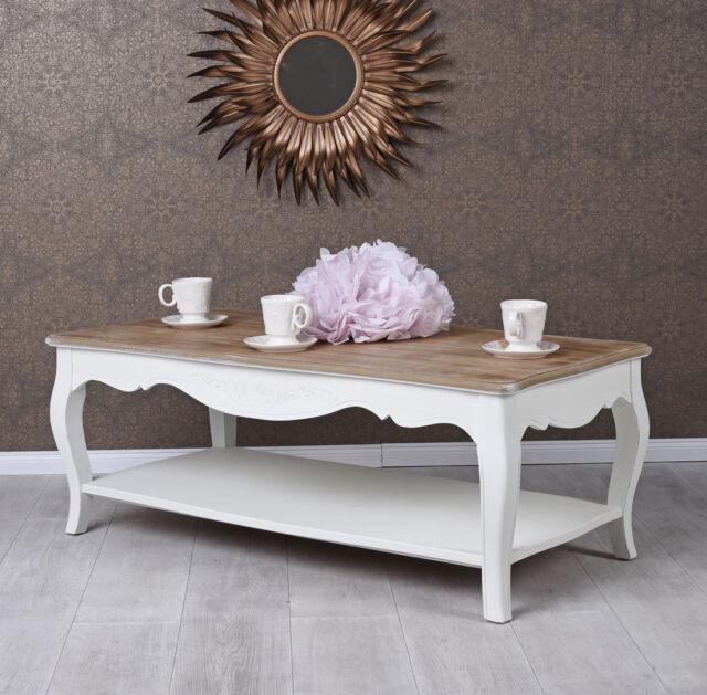 shabby chic beistell couchtisch landhauss vintage weiss ebay. Black Bedroom Furniture Sets. Home Design Ideas