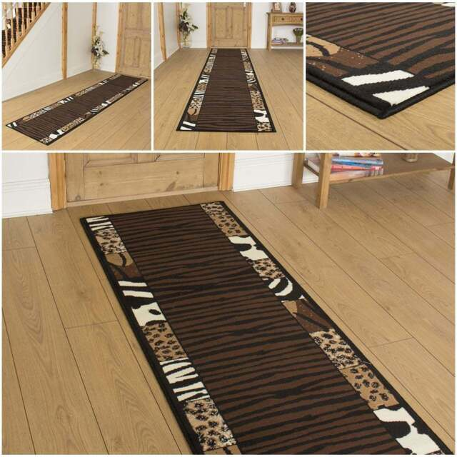 Safari Animal Print Hallway Carpet Runner Rug Mat For Hall Extra Very Long New