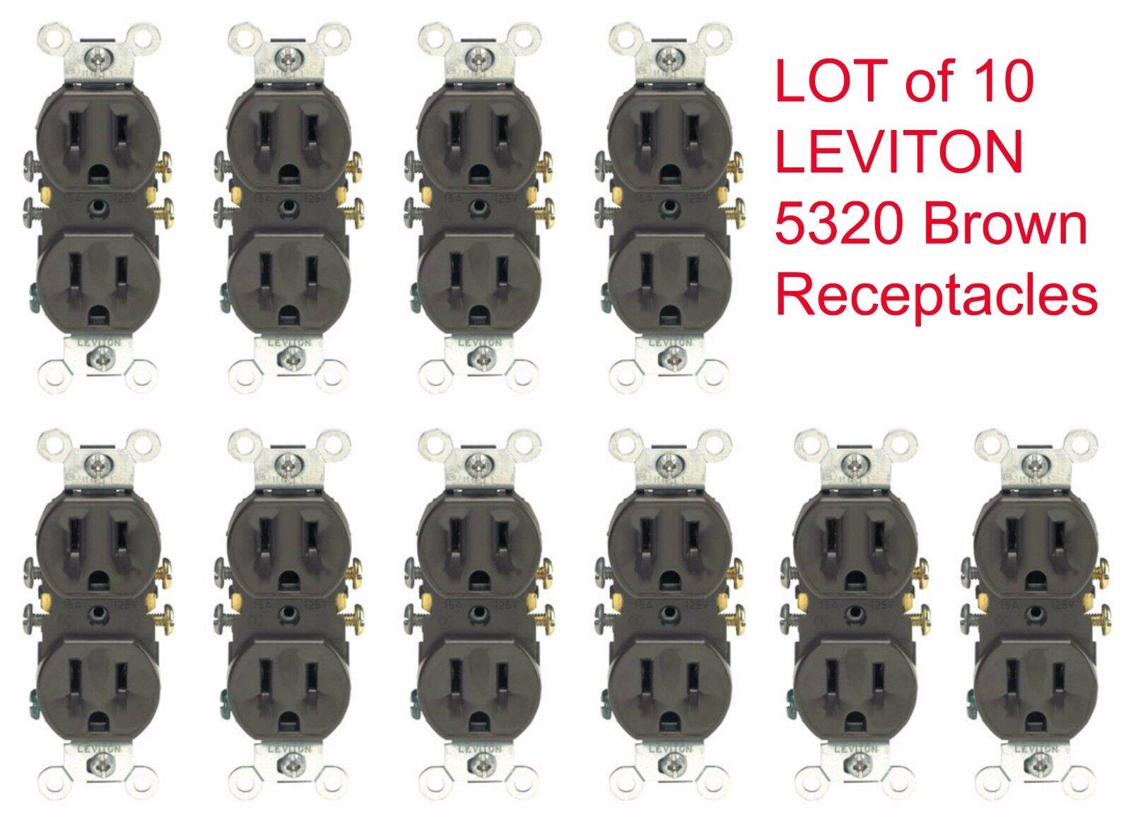 Leviton Brown Duplex Receptacle Outlets 15a 125v | eBay