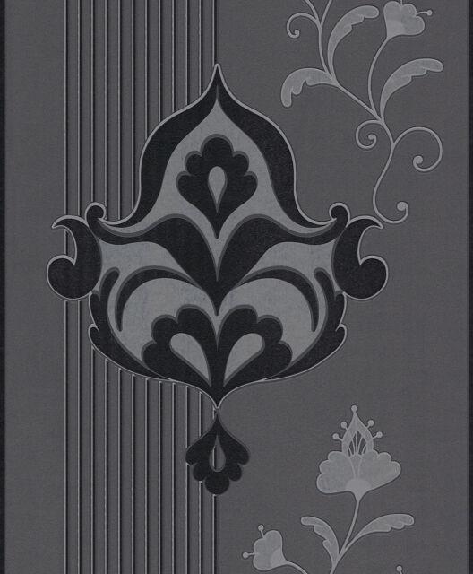 Rasch Tapete Brooklyn Vliestapete 773521 schwarz Silber | eBay