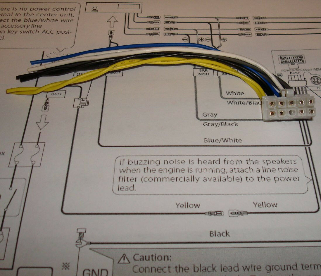 s l1600 kenwood subwoofer amp ksc wa100 wa80 sw10 10 pin harness ebay ksc-wa100 wiring harness at nearapp.co