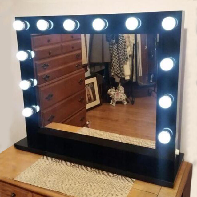 Chende frameless hollywood tabletops lighted makeup vanity mirror large vanity mirror with light hollywood style makeup mirror with dimmer bulbs mozeypictures Gallery