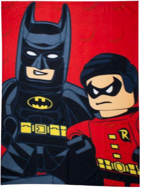LEGO DC KAPOW  BATMAN ROBIN PANEL FLEECE BLANKET KIDS BOYS SUPERHEROES THROW