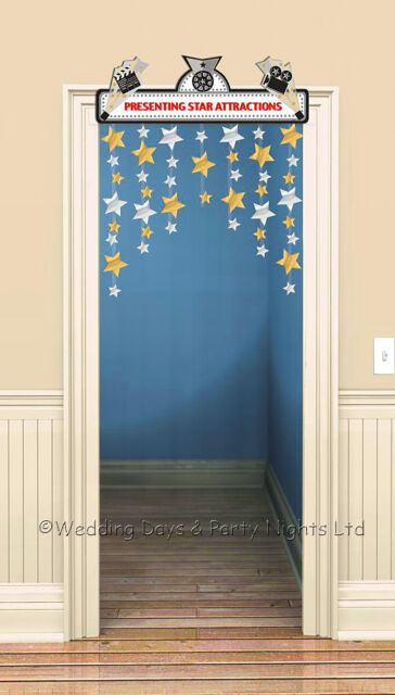 Hollywood Movies Theme Door Curtain Stars Banner Prom Birthday Party Decoration
