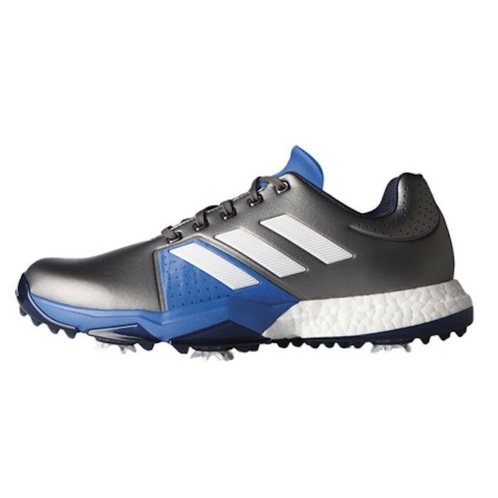 adidas Men's Adipower Boost 3 Golf Shoe Darksilvermetallic/White/Blastblue